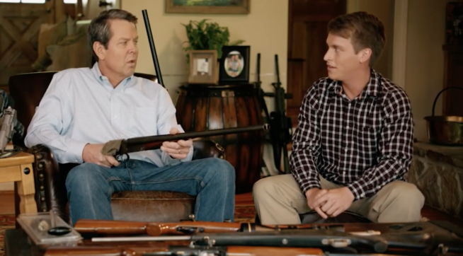 Georgia Gubernatorial Candidate Points Gun At Teen In Campaign Ad