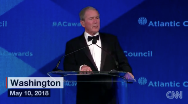 In Wake Of Trump's Iran Deal Exit, Bush Warns Against American Isolationism