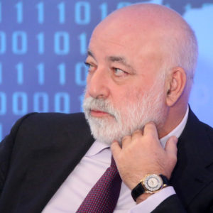 MOSCOW, RUSSIA - FEBRUARY, 9 (RUSSIA OUT) Russian businessman and billionaire Viktor Vekselberg attends the congress of Russian Union of Industrialists and Entrepreneurs (RSPP) at Ritz Calton Hotel in Moscow, Russia,  February,9, 2018. Vladimir Putin who is expected to be re-elected during the Presidential Elections 2018 planned on March,18. ( Photo by Mikhail Svetlov/Getty Images)