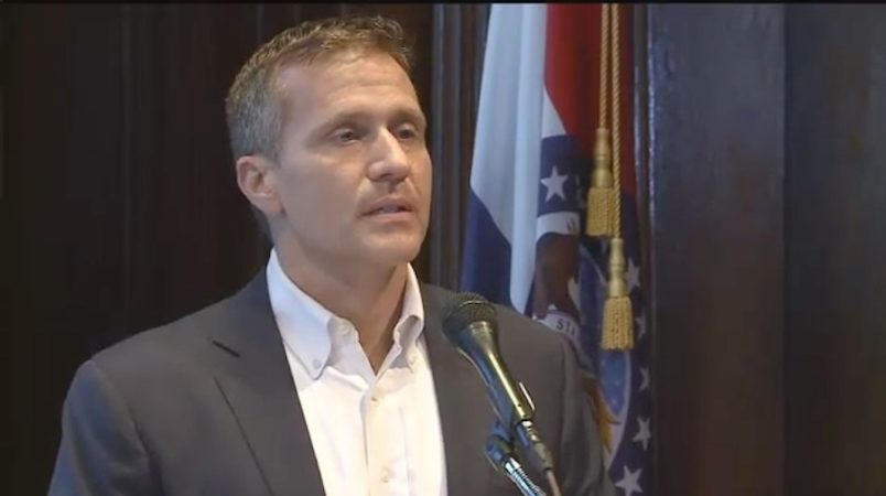 Felony charge dropped against outgoing Missouri Gov. Eric Greitens