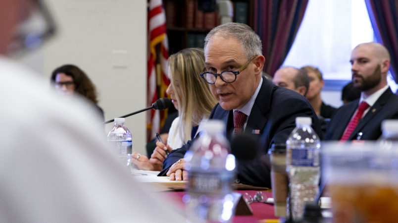 Senate hearing focuses on EPA Pruitt's spending