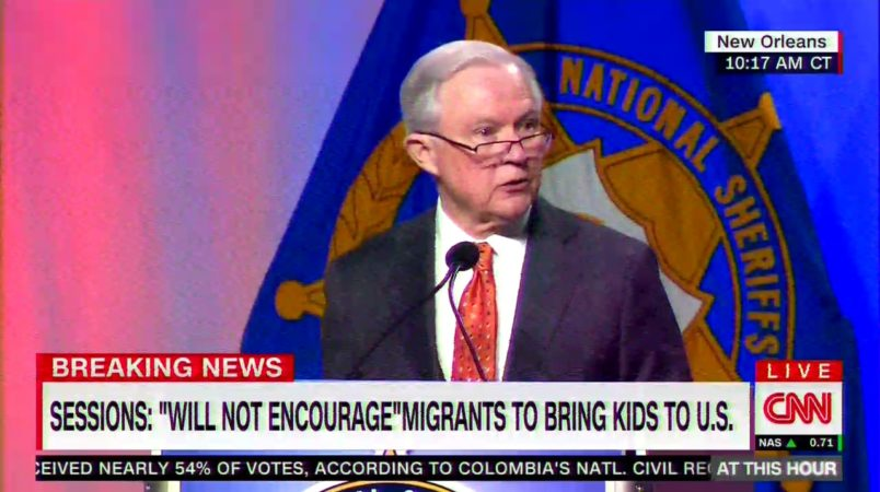 Sessions says comparing separated children's quarters to Nazi Germany is an
