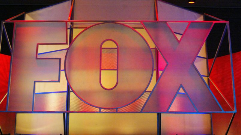 UNIVERSAL CITY, CA - JANUARY 17:  Fox Network logo is displayed during the 2005 Television Critics Winter Press Tour at the Hilton Universal Hotel on January 17, 2005 in Universal City, California.  (Photo by Frederick M. Brown/Getty Images) *** Local Caption *** Fox