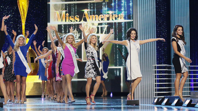 speaks during Miss America 2017 - 1st Night of Preliminary Competition at Boardwalk Hall Arena on September 6, 2016 in Atlantic City, New Jersey.