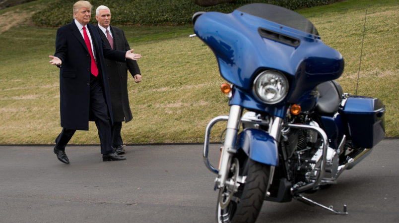 Trump warns Harley-Davidson against moving production out of the US