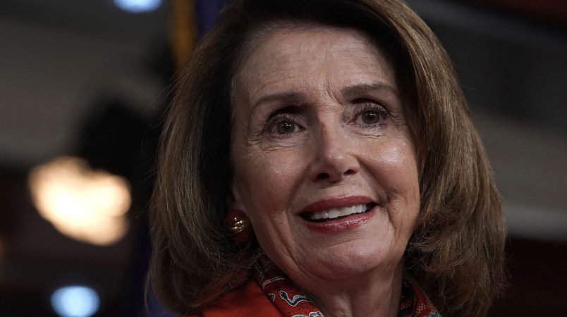 WASHINGTON, DC - APRIL 19:  U.S. House Minority Leader Rep. Nancy Pelosi (D-CA) speaks during her weekly news conference April 19, 2018 on Capitol Hill in Washington, DC. Pelosi held a news conference to answer questions from members of the media.  (Photo by Alex Wong/Getty Images)