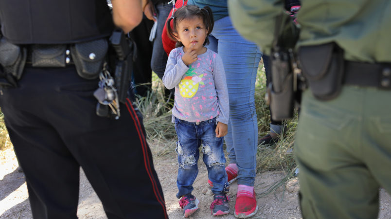 The status of the detained children on the border of US, Mexico