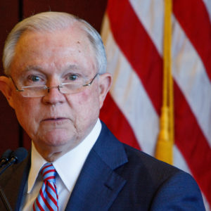 SCRANTON, PA, UNITED STATES - 2018/06/15: Attorney General Jeff Sessions delivers remarks on immigration and law enforcement actions to cadets from Lackwanna College Police Academy. (Photo by Michael Candelori/Pacific Press/LightRocket via Getty Images)