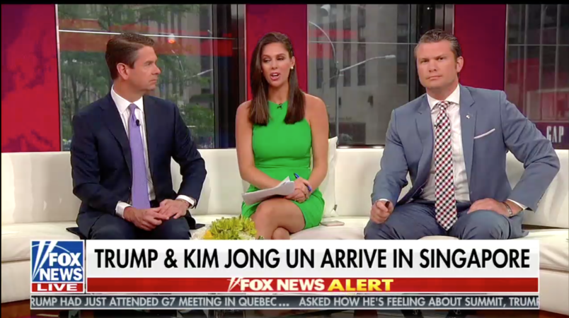Fox News host sorry for calling Trump and Kim 'two dictators'