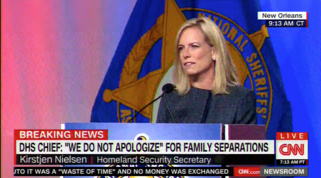 DHS Secretary Nielsen: 'We Do Not Apologize' For Family Separations