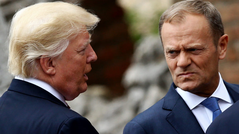 North Atlantic Treaty Organisation  summit: EU's Tusk warns president to appreciate allies
