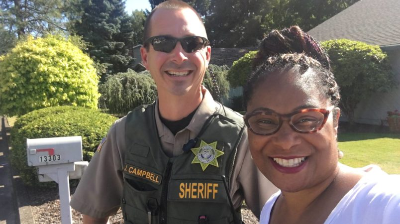 Woman calls cops on black lawmaker while campaigning in her district